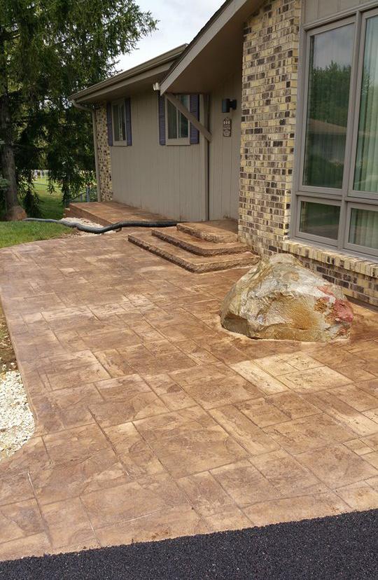 Stamped Concrete Pavement : Brick pavers a t asphalt concrete pavement