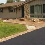 Asphalt Driveway and Decorative Concrete Front Deck Area