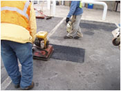 Infrared Asphalt Repair Process Step Six